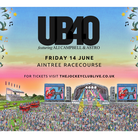 UB40 featuring Ali Campbell and Astro at Aintree Racecourse