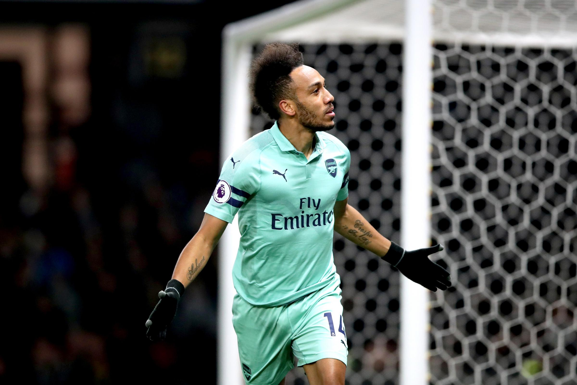 Pierre-Emerick Aubameyang's goal at Watford put Arsenal back into the top four