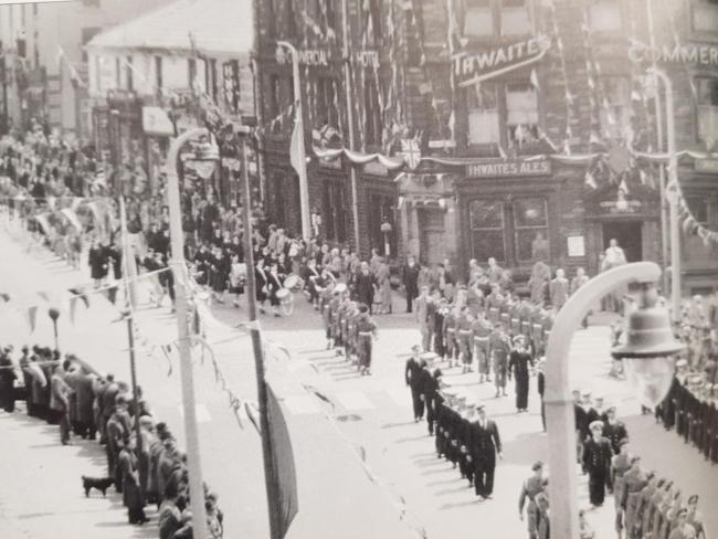 The mayor's Sunday procession in Accrington, 1953