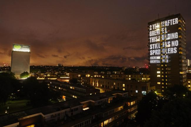 Grenfell Tower campaign projection